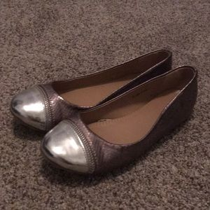 New York & Co silver flats size 9